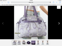Coach Addison Signature Diaper Bag Multifunctional Tote Lilac F18376 in Aurora, Illinois