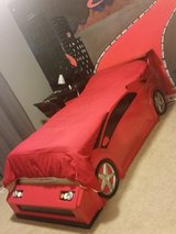 Custom made solid wood twin car bed in Bartlett, Illinois