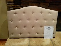 Upholstered Twin Button Tufted Headboard and legs: Brand New In Box! in Bolingbrook, Illinois
