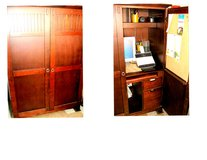 "All in one ""Office -n- a Box"" cherry wood cabinet in Belleville, Illinois"