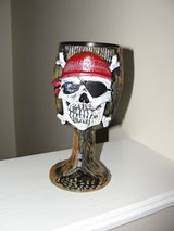 "LIKE NEW ""PIRATE SKELETON"" HARD PLASTIC WOOD LOOKING GOBLET in Camp Lejeune, North Carolina"