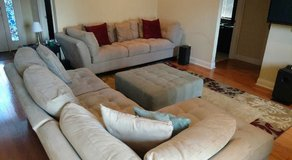 Living Room Set, Ottoman & Area Rug in Tyndall AFB, Florida