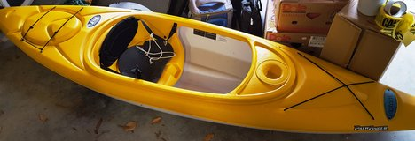 Kayak with paddles in Fort Eustis, Virginia