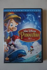 Walt Disney Pinocchio 70th Anniversary Platinum Edition DVDs in Plainfield, Illinois
