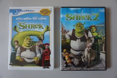Shrek and Shrek 2 DVDs in Plainfield, Illinois
