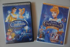 Walt Disney's Cinderella and Cinderella II Special Platinum Edition DVDs in Lockport, Illinois