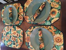 Sunflower tablecloths in Kingwood, Texas