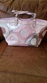 Coach pink leather and fabric bag in Lockport, Illinois
