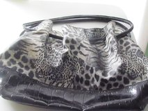 Black & White Print Purse in Joliet, Illinois