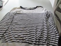 White & Black Striped Juniors Sweater/Small in Joliet, Illinois