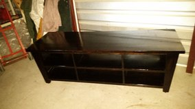 All solid wood tv table stand 5 foot length in Fort Bliss, Texas