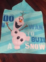 2 Disney Olaf hooded towels in Oswego, Illinois