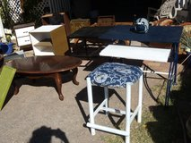 DALLAS COWBOY STOOL WITH DALLAS COWBOY DESK.......VINTAGE TABLES--MICRO STAND N MORE FURNITURE in Fort Bliss, Texas