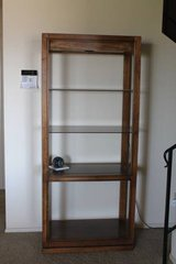 Lighted Wood shelf unit or display case in Temecula, California