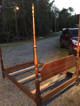 FULL SIZE SOLID WOOD 4 POST BED in Hinesville, Georgia
