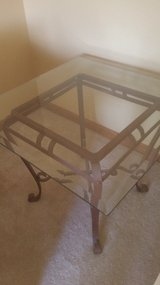 Metal and Glass End Table in Bolingbrook, Illinois