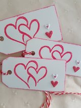 6 Heart Gift Tags Handmade in Ramstein, Germany