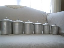 6 pc. set of FRENCH ALUMINUM CANISTERS in Moody AFB, Georgia