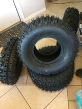 Full Set Front (2x) 21X7-10 and rear Tires (2x) 20X10-9 ATV Tires Pair in Yucca Valley, California