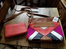 matching Fossil Leather Set Purse and wallet, both new, Retail price 250 in Fort Polk, Louisiana