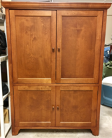 Cherry Entertainment Cabinet or Desk in MacDill AFB, FL