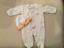 Winnie the Pooh sleeper & hat..size 3-6 months in Naperville, Illinois
