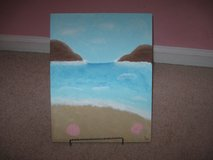 11x14  beach scene  w/ stand in Camp Lejeune, North Carolina