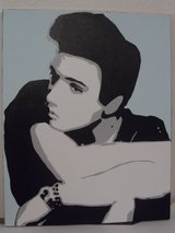 Young Elvis 16x20 Hand Painted Acrylics on Canvas Pop Art in Livingston, Texas