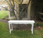 Sofa table/  desk / entry table finished in white in Morris, Illinois