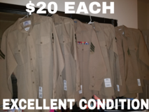 Mens Long sleeve Khaki uniform shirts in San Clemente, California