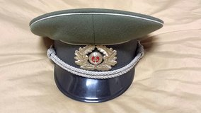 1969 East German Army Stasi Officer Hat Visor DDR ARMY in Wiesbaden, GE