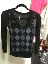 V-neck Black light sweater in Okinawa, Japan