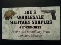 Military items wanted. CASH PAID. in Fort Leonard Wood, Missouri
