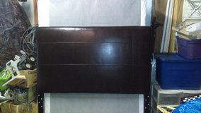 Full size bed leather head board in Kansas City, Missouri