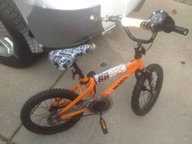 "Boys 16"" Hot Wheels bike (training wheels included) in Bolingbrook, Illinois"
