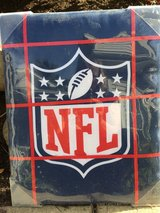 """NFL """"bulletin board"""". Red and blue in Bartlett, Illinois"""