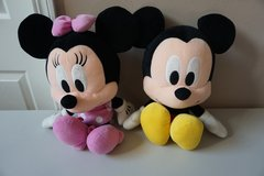 Mickey Mouse and Minnie Mouse Plush Doll Set in Joliet, Illinois