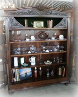 Gorgeous Art Nouveau book shelves with secret compartment in Ramstein, Germany