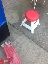 Plastic stool in Clarksville, Tennessee