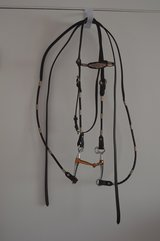 Leather Headstall & Split Reins w/bit-Full Size unused in Alamogordo, New Mexico