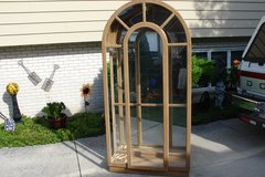 CURIO/CHINA CABINET LIGHTED 4 SHELVES WITH MIRROR in Tinley Park, Illinois