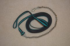 Flat Nylon Lunge Line w-Chain and Snap - Black/Turquoise - 25' in Alamogordo, New Mexico