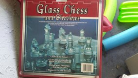 Glass chess and checkers in Oceanside, California