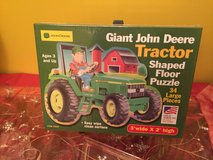 Brand New Great American Puzzle Factory John Deere Tractor Giant Shaped Floor Puzzle in Yorkville, Illinois