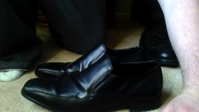11.5 Perry Ellis Portfolio Black leather shoes size 11.5 in Glendale Heights, Illinois