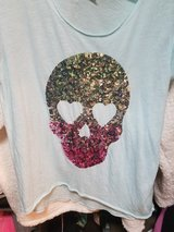 Victoria secret pink skull top in Camp Lejeune, North Carolina