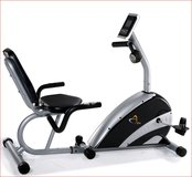 Stationary Recumbent Exercise Bike w/Varying-Resistance Programs/Heart Rate Monitor/ Fan in Alamogordo, New Mexico