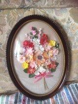 Nice picture flowers behind glass from France Shabby chic in Ramstein, Germany