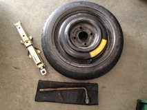 Spare tire and tools in Fort Riley, Kansas