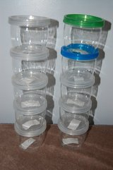 12oz storage plastic jar Container  Snap together in Bolingbrook, Illinois